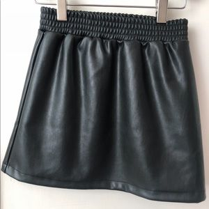 Kids splendid leather skirt